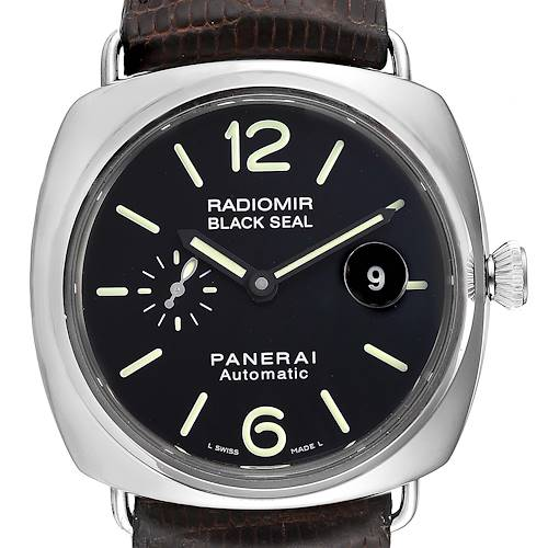 Panerai Radiomir Black Seal Automatic Steel Mens Watch PAM00287 Box Papers