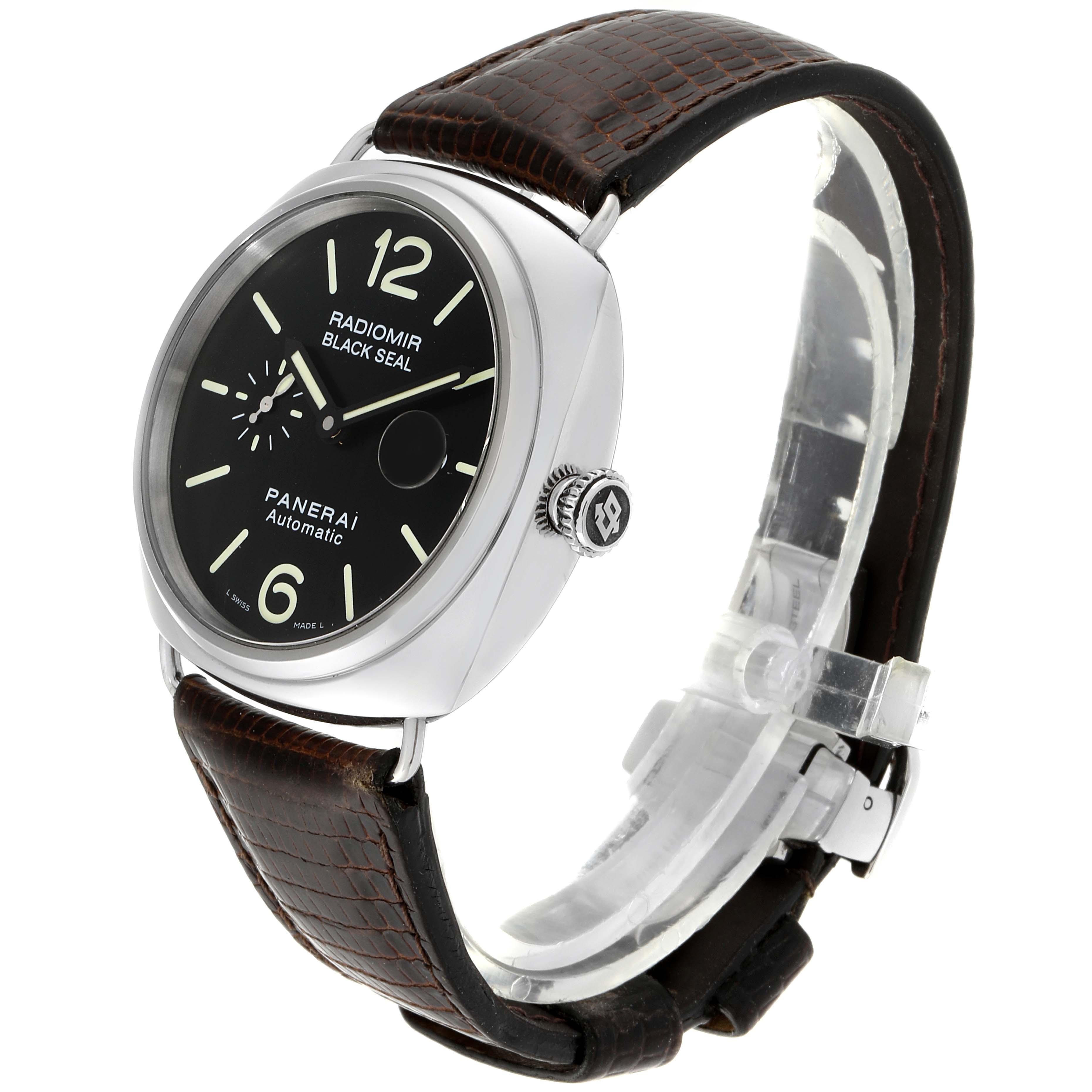 Panerai Radiomir Black Seal Automatic Steel Mens Watch PAM00287 Box Papers SwissWatchExpo