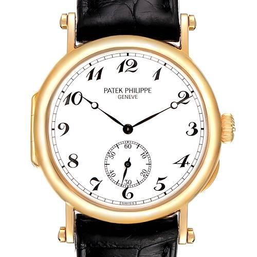 Photo of Patek Philippe Calatrava Officier Yellow Gold White Dial Mens Watch 3960