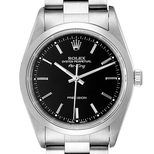 Photo of Rolex Air King 34mm Steel Black Dial Domed Bezel Mens Watch 14000