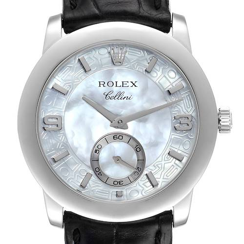Photo of Rolex Cellini Cellinium Platinum Mother of Pearl Dial Mens Watch 5240