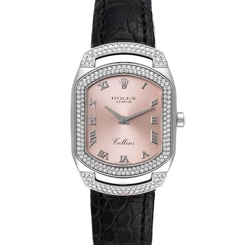 Photo of Rolex Cellini Cellissima White Gold 222 Diamonds Ladies Watch 6693