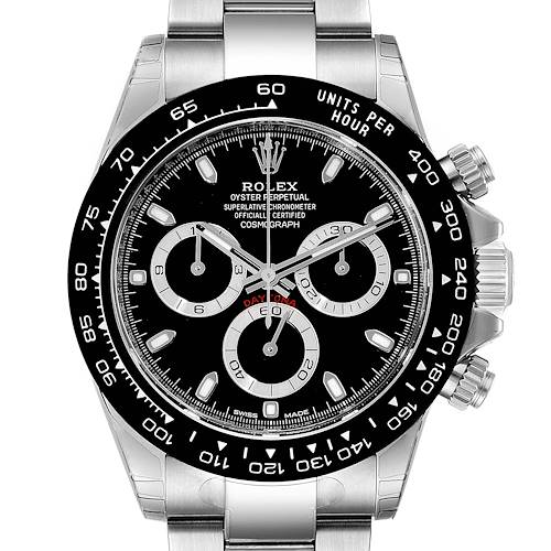 Photo of Rolex Cosmograph Daytona Ceramic Bezel Black Dial Mens Watch 116500 Unworn