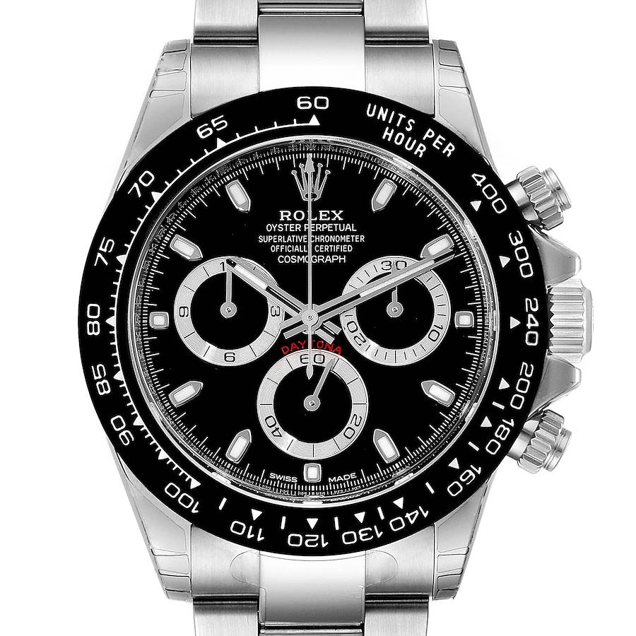 Rolex Cosmograph Daytona Ceramic Bezel Black Dial Mens Watch 116500 Unworn SwissWatchExpo