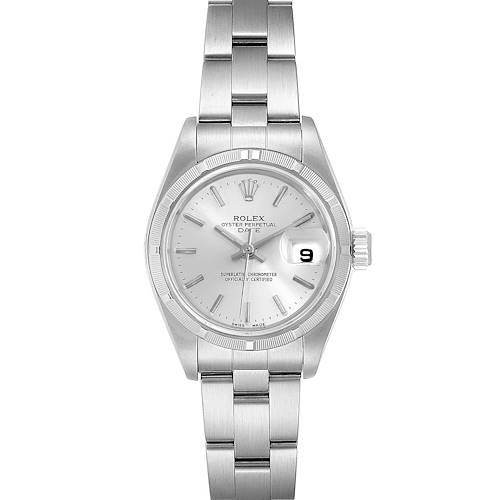 Photo of Rolex Date Silver Dial Oyster Bracelet Steel Ladies Watch 79190