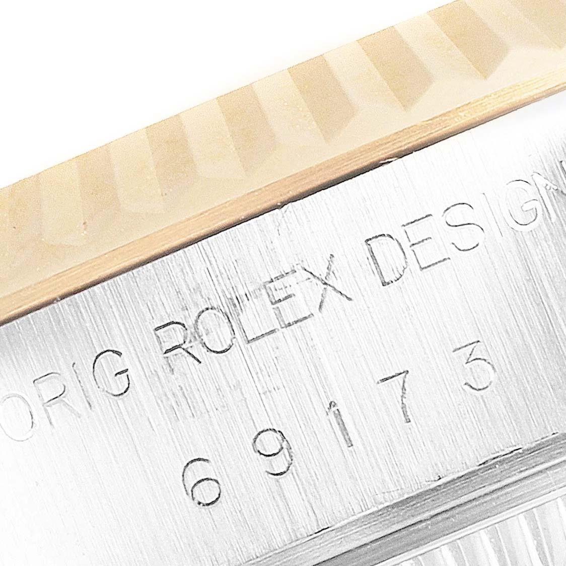 Rolex Datejust Steel Yellow Gold Fluted Bezel Ladies Watch 69173 Box SwissWatchExpo