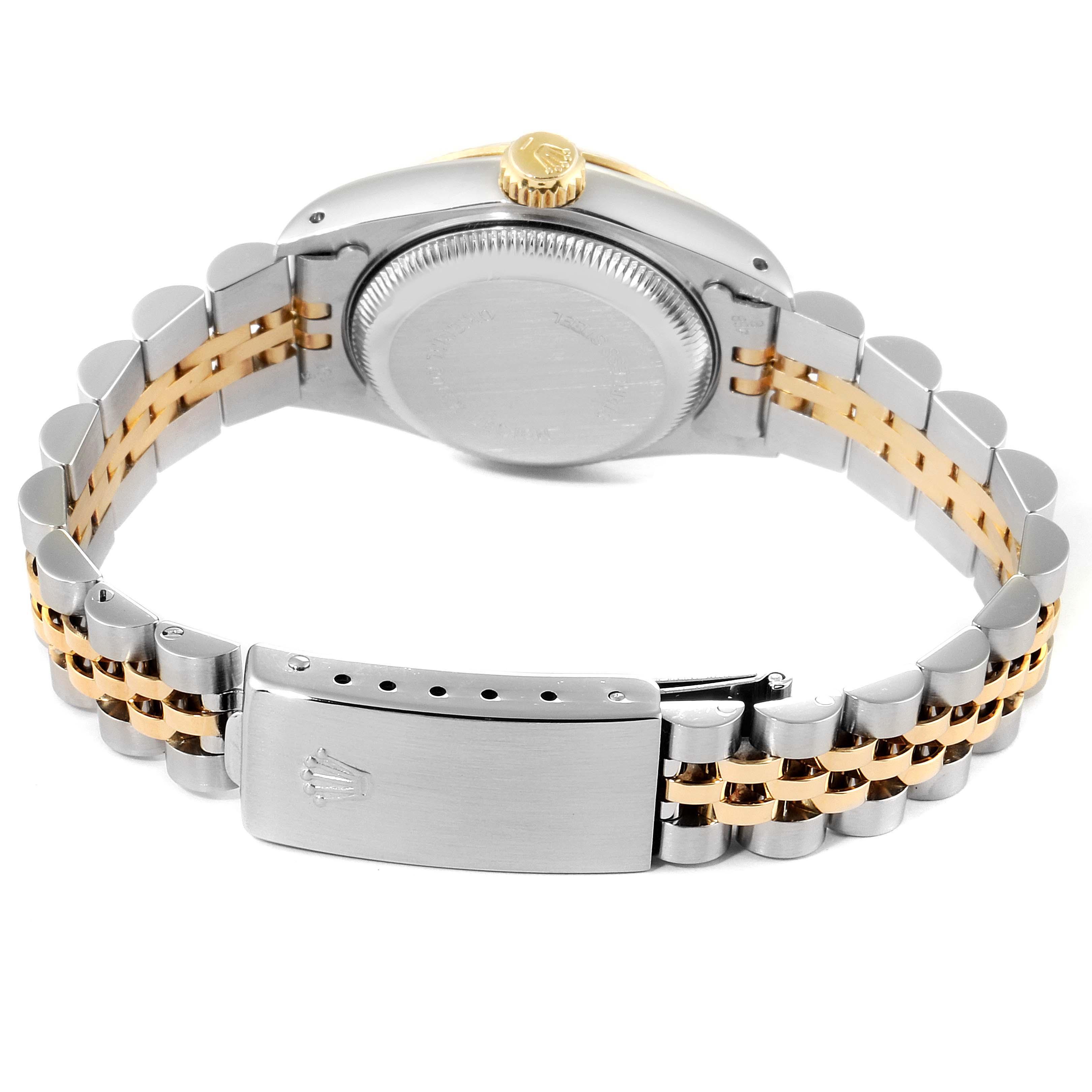 Rolex Datejust Steel Yellow Gold Fluted Bezel Ladies Watch 69173 Box Papers SwissWatchExpo