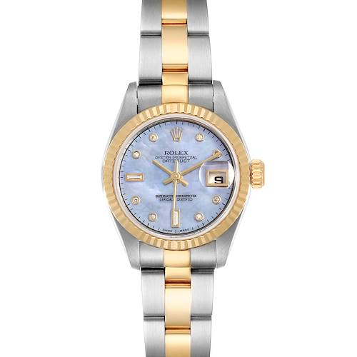 Photo of Rolex Datejust Steel Yellow Gold MOP Diamond Ladies Watch 79173 Box
