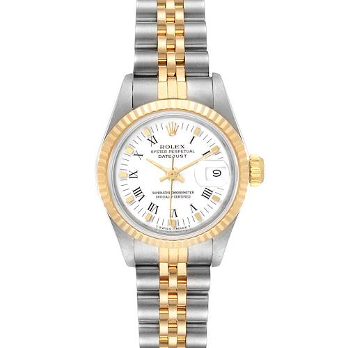 Rolex Datejust Steel Yellow Gold White Dial Ladies Watch 69173 Box