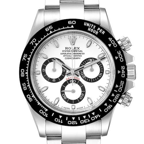 Photo of Rolex Daytona Ceramic Bezel White Dial Mens Watch 116500 Box Card