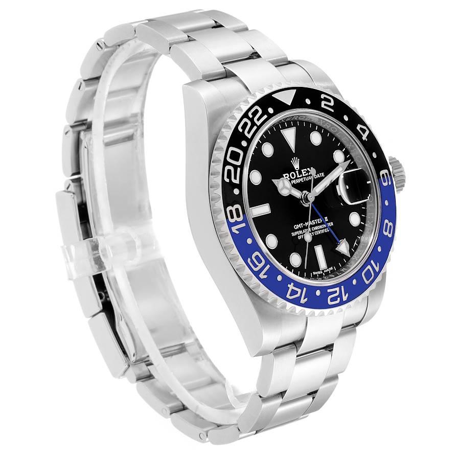 Rolex GMT Master II Batman Blue Black Ceramic Bezel Steel Watch 116710 Box Paper SwissWatchExpo