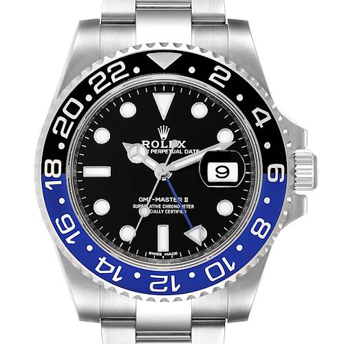 Photo of Rolex GMT Master II Batman Blue Black Ceramic Bezel Steel Watch 116710 Box Paper