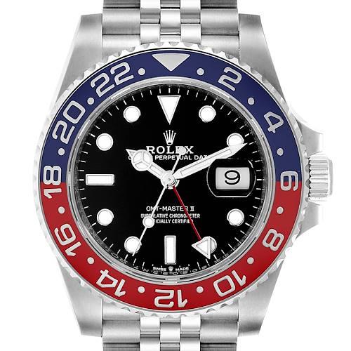 Photo of Rolex GMT Master II Pepsi Bezel Jubilee Steel Watch 126710 Box Card Unworn