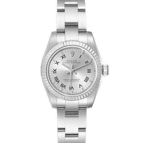 Photo of Rolex Nondate Steel White Gold Roman Numerals Ladies Watch 176234