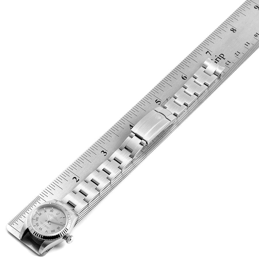 Rolex Nondate Steel White Gold Roman Numerals Ladies Watch 176234 SwissWatchExpo