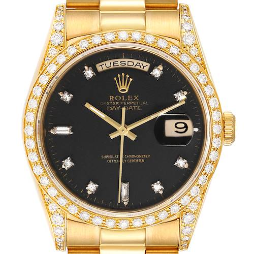 Photo of Rolex President Day-Date 36 Yellow Gold Diamond Mens Watch 18388
