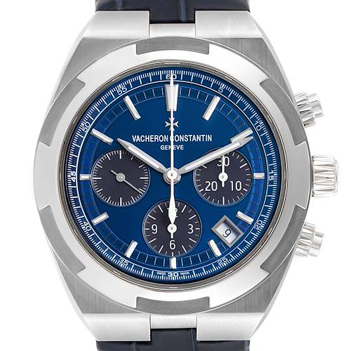 Photo of Vacheron Constantin Overseas Blue Dial Chronograph Watch 5500V Box Papers