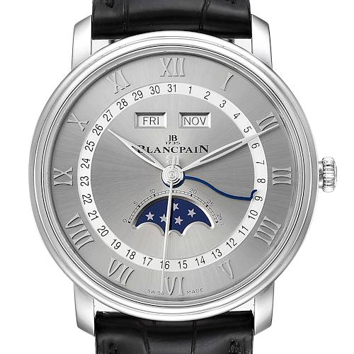 Photo of Blancpain Villeret Moonphase Steel Mens Watch 6654-1127-55B