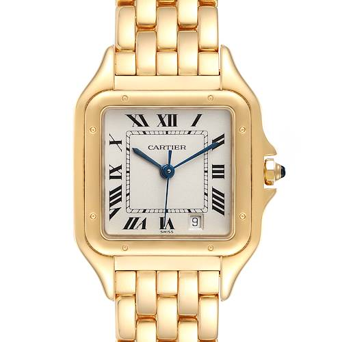 Photo of Cartier Panthere Large 18k Yellow Gold Silver Dial Unisex Watch W2501489