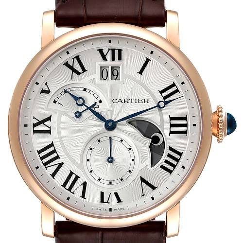 Photo of Cartier Rotonde Retrograde GMT Time Zone Rose Gold Mens Watch W1556240