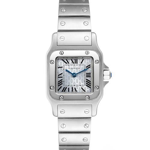 Photo of Cartier Santos Galbee Blue Dial Small Steel Ladies Watch W20064D6
