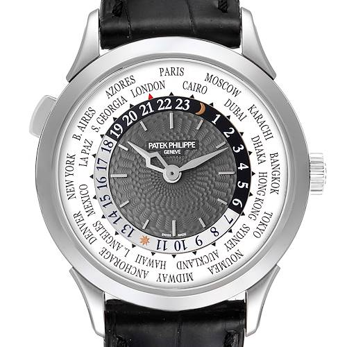 Photo of Patek Philippe World Time Complications White Gold Watch 5230G Box Papers