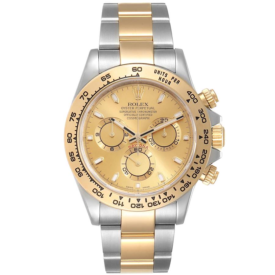 Rolex Cosmograph Daytona Steel Yellow Gold Mens Watch 116503 Box Card SwissWatchExpo