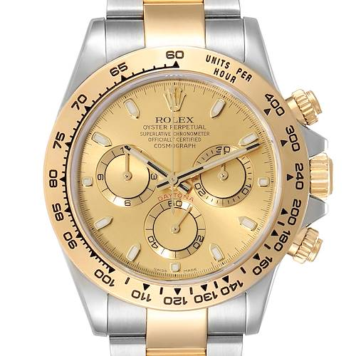Photo of Rolex Cosmograph Daytona Steel Yellow Gold Mens Watch 116503 Unworn