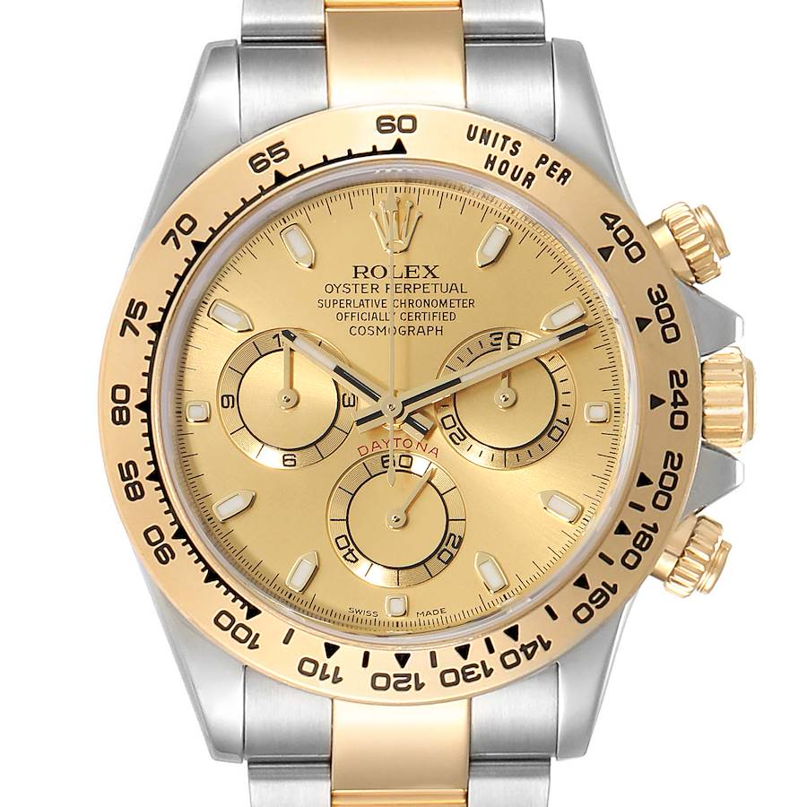 Rolex Cosmograph Daytona Steel Yellow Gold Mens Watch 116503 Unworn SwissWatchExpo
