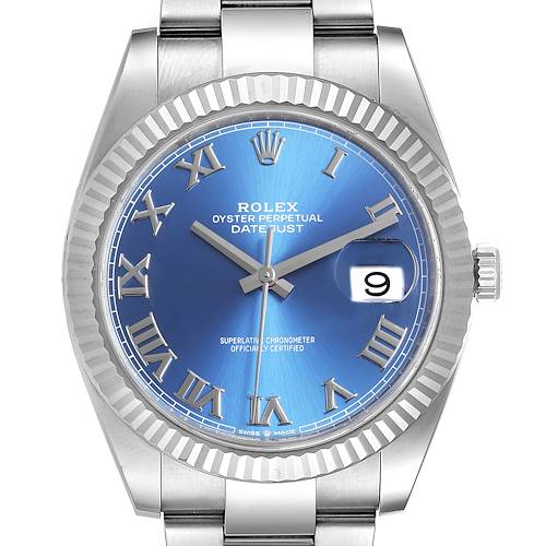 Photo of Rolex Datejust 41 Steel White Gold Blue Dial Steel Mens Watch 126334 Unworn