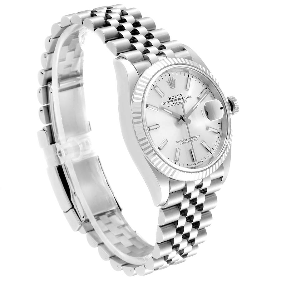 Rolex Datejust Steel White Gold Silver Dial Mens Watch 126234 Box Card SwissWatchExpo