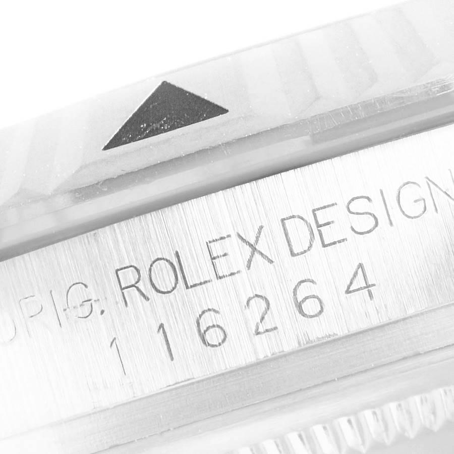 Rolex Datejust Turnograph Black Dial Steel Mens Watch 116264 Box SwissWatchExpo
