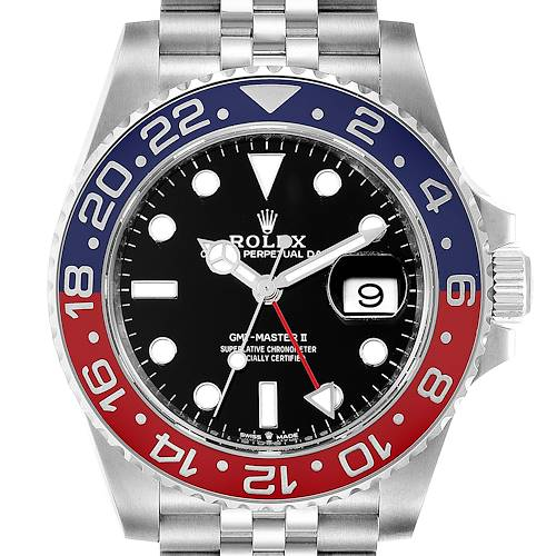 Photo of Rolex GMT Master II Pepsi Bezel Jubilee Steel Watch 126710 Box Card