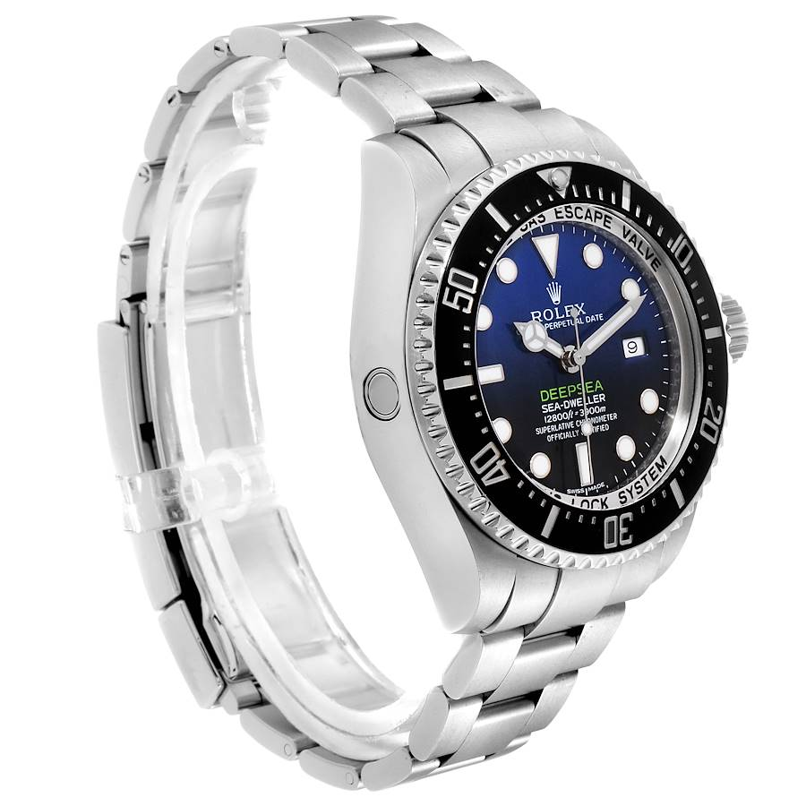 Rolex Seadweller Deepsea Cameron D-Blue Steel Watch 116660 Box Card SwissWatchExpo