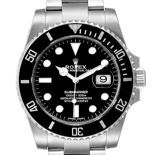 Photo of Rolex Submariner Ceramic Bezel Black Dial Steel Mens Watch 116610 Box Card