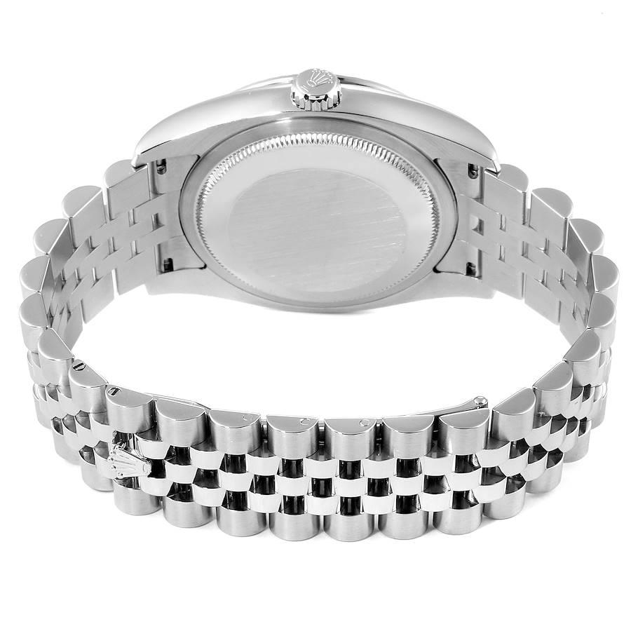 Rolex Turnograph Steel White Gold Bezel Mens Watch 116264 Box Papers SwissWatchExpo