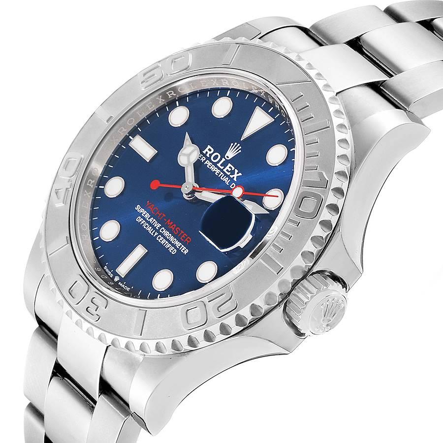 Rolex Yachtmaster Steel Platinum Blue Dial Mens Watch 126622 Unworn SwissWatchExpo