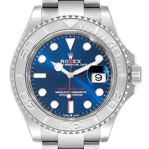 Photo of Rolex Yachtmaster Steel Platinum Blue Dial Mens Watch 126622 Unworn