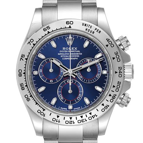Photo of Rolex Cosmograph Daytona White Gold Blue Dial Mens Watch 116509 Unworn