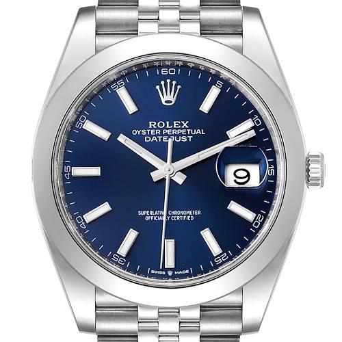 Photo of Rolex Datejust 41 Blue Dial Jubilee Bracelet Steel Watch 126300 Unworn