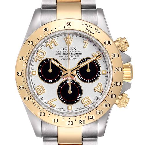 Photo of Rolex Daytona Panda Dial Steel Yellow Gold Mens Watch 116523 Box