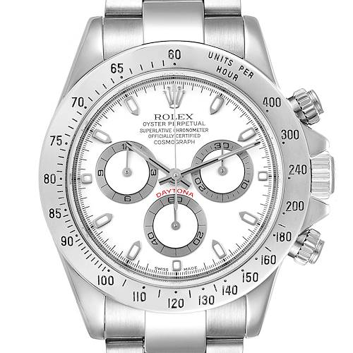 Photo of Rolex Daytona Steel White Dial Chronograph Mens Watch 116520