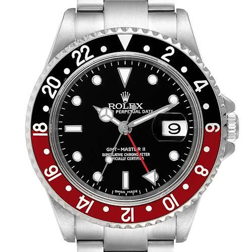 Photo of Rolex GMT Master II Error Dial Coke Bezel Mens Watch 16710 Box Papers