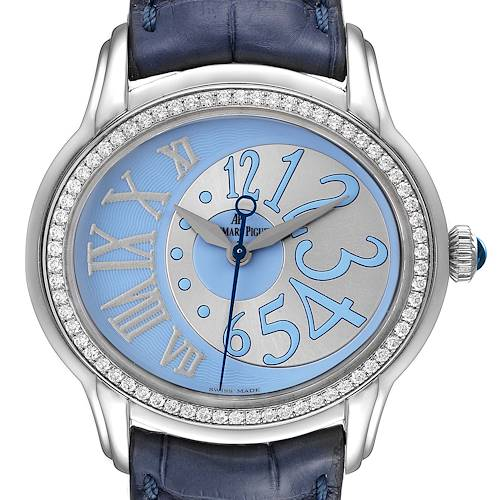 Photo of Audemars Piguet Millenary Blue Dial Steel Diamond Ladies Watch 77301ST