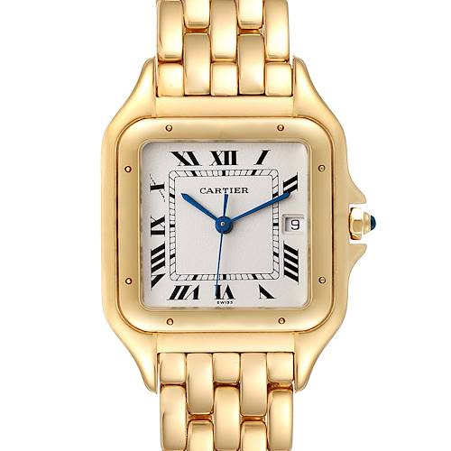 Photo of Cartier Panthere XL Yellow Gold Sapphire Cabochon Unisex Watch W25014B9