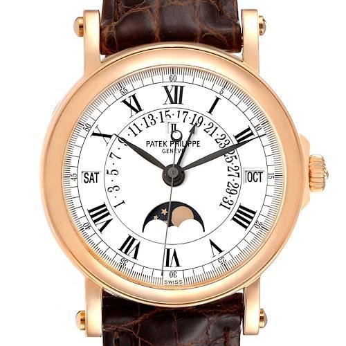 Photo of Patek Philippe Perpetual Calendar Retrograde Rose Gold Watch 5059 Box Papers