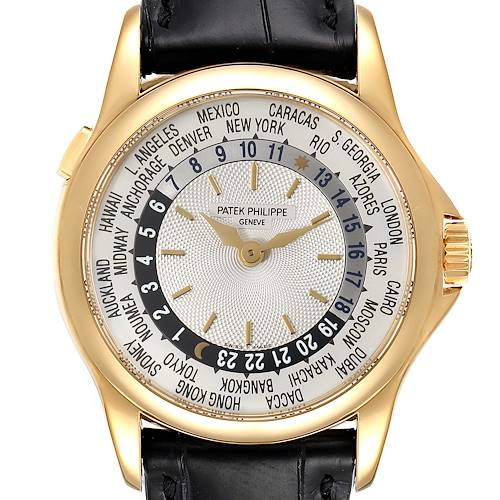 Photo of Patek Philippe World Time Complications Yellow Gold Watch 5110 Box Papers
