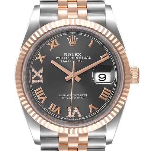 Photo of Rolex Datejust 36 Steel EveRose Gold Diamond Unisex Watch 126231 Unworn