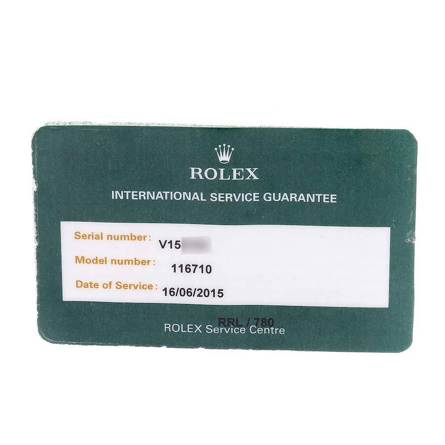 Rolex GMT Master II Black Dial Steel Mens Watch 116710 Box Card SwissWatchExpo