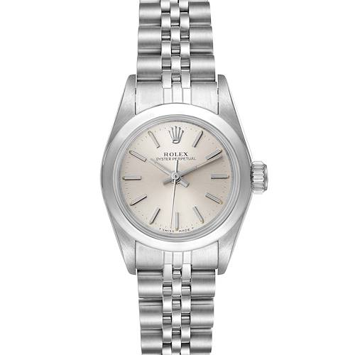 Photo of Rolex Oyster Perpetual Silver Dial Steel Ladies Watch 67180